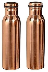 Copper 100 Pure Handmade Copper Bottle-1000Ml, Leak Proof Joint Free For Health Benefits ( Pack Of 2 Pcs. )