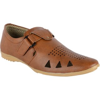Aaiken Men's Brown 'Look n Style' Casual Loafers
