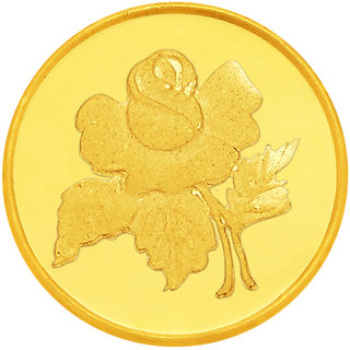 Rose 0.5 grams 995 24 kt Gold Coin