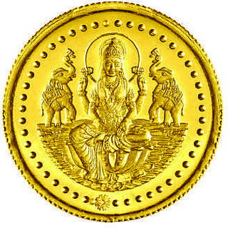 Laxmi 0.5 grams 995 24 kt Gold Coin