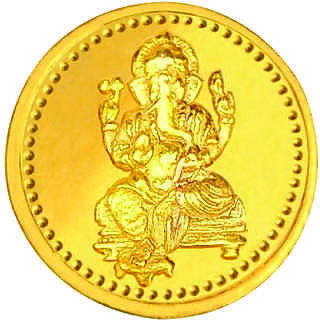 Ganesha 1 grams 995 24 kt Gold Coin