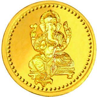Ganesha 1 grams 916 22 kt Gold Coin