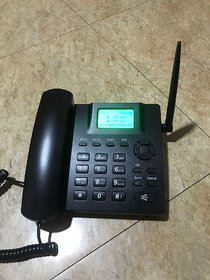Dual Sim Gsm Landline Phone With Fm Radio By Metatek Su
