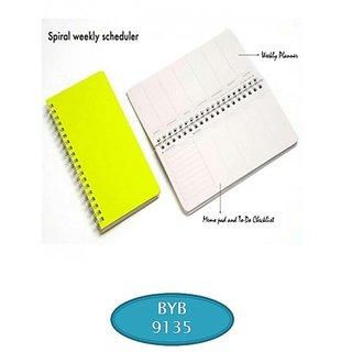 Spiral  Weekly scheduler Note Book  By BJA9135