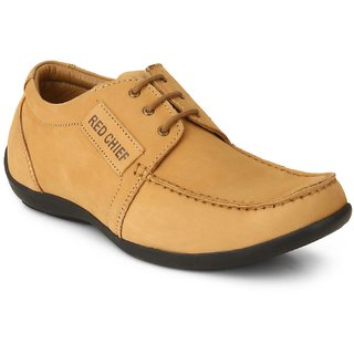 Red Chief Camal Brown Men Derby Casual Leather Shoes (RC5086 004)