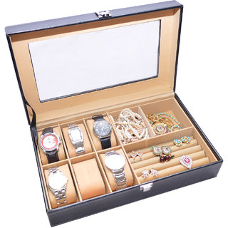 Knott Exclusive Black watch cum jewellery case