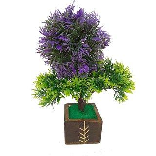 Adaspo Three Headed Plant In One Colour ( 25X20X9 CM ) (Blue)
