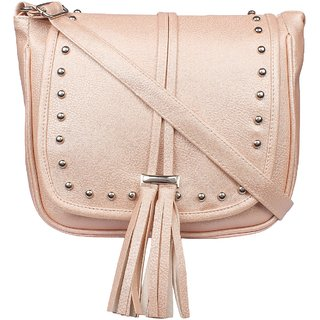 Tarshi Pu Beige Sling Bag For Women