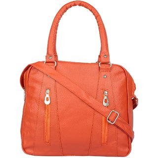 Tarshi Pu Orange Sling Bag For Women
