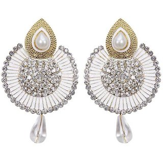 huskey  chandanbali  hanging earring (silver color)