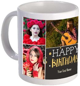 Personalised Birthday Mug with images and text
