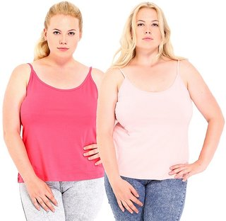 Phalin Multicolor Cotton Plus Size Camisoles