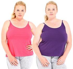 Phalin Multicolor Cotton Plus Size Camisoles