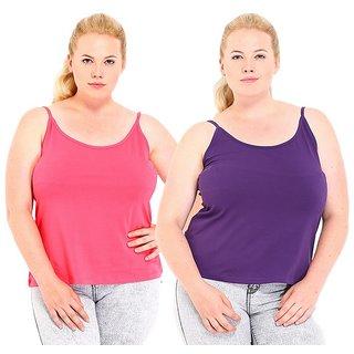 446ca0100095c Buy Phalin Multicolor Cotton Plus Size Camisoles Online - Get 67% Off