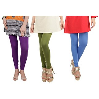 Bembee Multicolour Viscose Leggings - Pack of 3