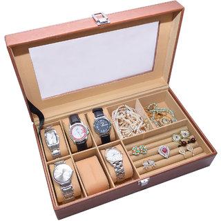 Knott Exclusive Tan watch cum jewellery case