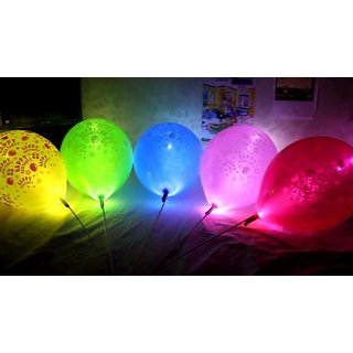 LED Glowing Multicolor Balloons(set of 5pcs)