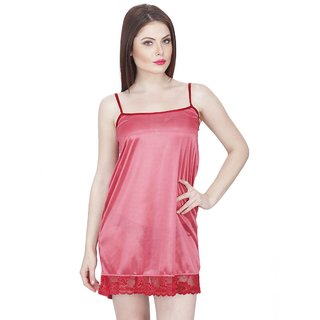 f8a8d9336c6 Buy Boosah Pink Satin Baby Doll Dresses Without Panty Online - Get 59% Off