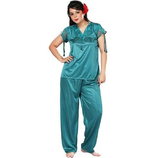 10a2843d82 Buy Boosah Women s Light Blue Satin 1 Night Suit Online - Get 49% Off