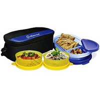 Oliveware Happy Day Lunch Bag With 2 Small And 1 Oval Container