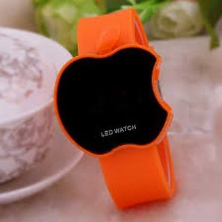 Ismart Orange Led Digital Watch For Boys, Girls, Kids (Ismart00028)