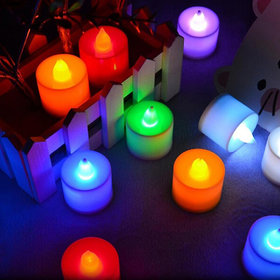 Multi Color LED Candles, Tea Light Candles, for Christmas & other festival decoration candles smokeless Set of 12Pcs.