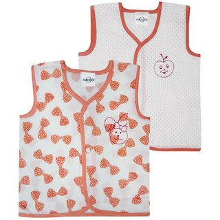 Tumble Sleeveless Printed Set Of 2 Vests - 0 to 12 Months