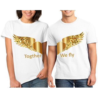 Together We Fly Couple Combo Tshirts