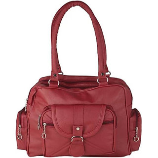 Bizarre Vogue Stylish Partywear Handbag for Women's Girls (Maroon)
