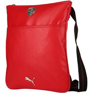 Branded Export Surplus Faux Leather Red Sling Bag Shoulder Messenger Cross  body Sling Bag SATCHEL