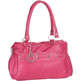 Bizarre Vogue Stylish Partywear Handbag for Women's  Girls (Pink)
