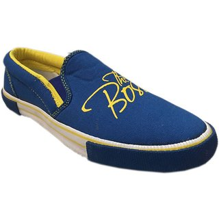 Rexona Sportif Royal Blue & Yellow Fashionably Top Quality Casual Shoes For Men In Various Sizes - The Boss