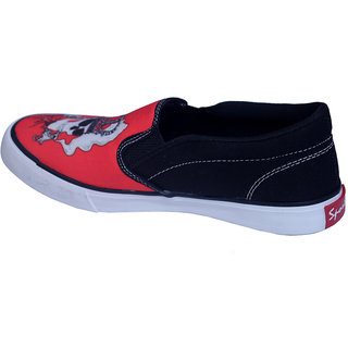 Rexona Sportif Red & Black Fashionably Top Quality Casual Shoes For Men In Various Sizes - Gangsta