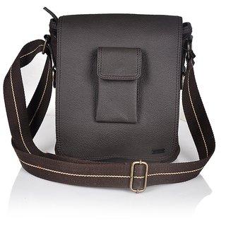 ebfcf8d2f89e Branded Surplus Leather Brown Sling Bag Unisex Shoulder Messenger Cross  body Yellow Tree Sling Bag SATCHEL