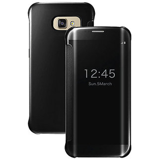 Samsung Galaxy A7 (2016) Mirror Flip Cover - Black