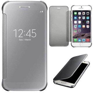 Samsung Galaxy A7 (2016) Mirror Flip Cover - Silver