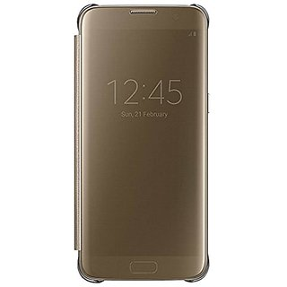 Buy Clear View Mirror Smart View Case Flip Cover For Oppo F1S - Gold Online @ ₹699 from ShopClues