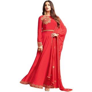 Om Fashion Latest Faux Georgette Red Party Wear Anarkali Salwar Kameez( F1156Red)