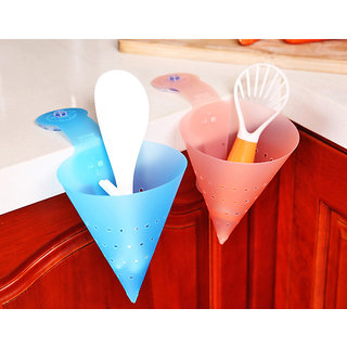 2pcs Triangle Conical Sieve Hygiene Vegetable DRAINER BASKET FUNNELS Suction