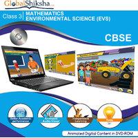 GlobalShiksha CBSE 3 Maths & EVS(DVD-Rom)