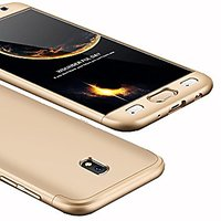 Samsung Galaxy J7 Pro Golden Colour 360 Degree Full Body Protection Front Back Case Cover Standard Quality