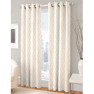 Gharshingar Primium Grey Abstract Polyester Set of 8 Curtains