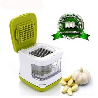 1pcs Garlic Crusher with Stainless Steel Blades  Garlic Press, Chopper, Dicer