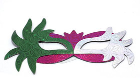 Krish Multicolor Shining Paper Eye Masks(set Of 6Pcs.)