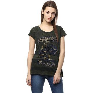 Fritzberg Olive Printed T-shirt