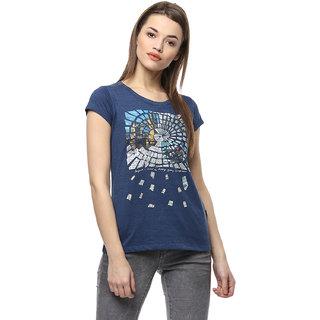 Fritzberg Blue Printed T-shirt