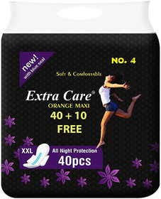 Combo Extra Care Orange Maxi Package 40 + 10 Free (Pack Of-50)