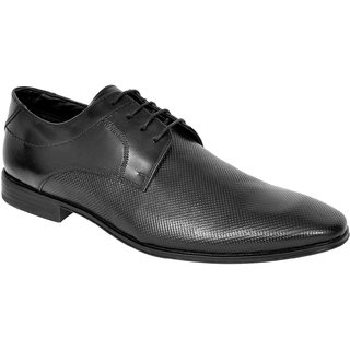 Allen Cooper ACFS-71444 Black Mens Leather Formal Shoes