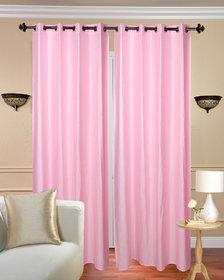 Krishan Enterprises Home Decor Pink Crush Plain Polyester Door Curtain (Pack of 2) (4x7 ft)