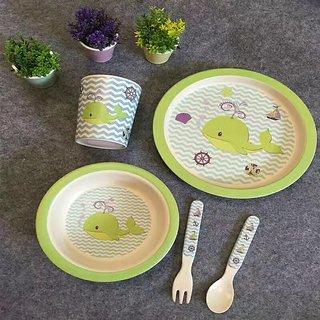 Yookidoo kids tableware set of 5 pcs Whale theme
